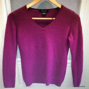 Ann Taylor V Neck 100% Cashmere Sweater
